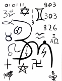 Abstract Occult Symbols Collage by SOLLOG